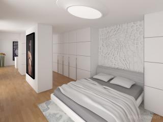 """Penthouse Apartment Study 2016 - Master Bedroom"" / interior design, 3d + post production, photographic artworks by imagonauten / Daniel Linder."
