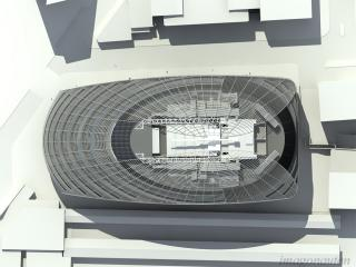 Hammersmith TFL - Verified views and concept renderings. Top view. / 3d, handling and translation of complex geometry from generative components + post production by imagonauten, design by Hamiltons Architects London.