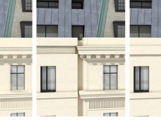 "Design proposal ""Margareth Street / Cavendish Gate"" - Facade detail / 3d + post production by imagonauten, design by Hamiltons Architects, London."