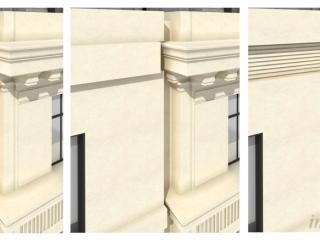 "Design proposal ""Margareth Street / Cavendish Gate"" - Facade detail / 3d + post production by imagonauten, design by Hamiltons Architects, London."