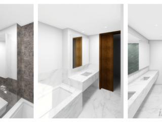 "Bathroom study - ""Different stones"" / 3d + post production by imagonauten, design by Hamiltons Architects, London."