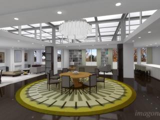 "Design proposal ""Kenwood Place apartment"" / 3d + post production by imagonauten, design by Collett Zarzycki, London."