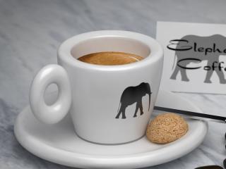 "Product image ""Elephant Coffee"". / Design, 3d + post production by imagonauten / Daniel Linder."