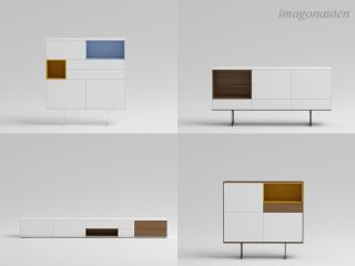 Rendered product shots of single furniture items for an office design project by a client. / Modeling, texturing, rendering + post production by imagonauten / Daniel Linder. All rights to the design of the furniture lie with the respective furniture designer / rights owner.